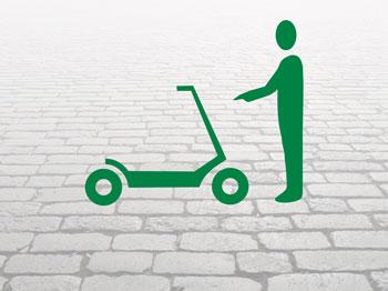 Fahrer-E-Scooter